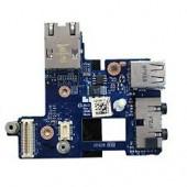 DELL Bezel Latitude E6400 Dual USB Ethernet Port Audio Jack Sound Board LS-3804P