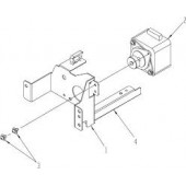 HP ADF Exit Motor Assembly - Includes Motor, Mounting Brackets PF2307K218NI
