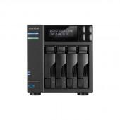 ASUSTOR AS6204T Intel Celeron 1.6GHz/ 4GB DDR3L/ 2GbE/ 2eSATA/ USB3.0/ 4-bay Desktop NAS AS6204T
