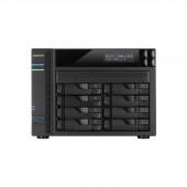 ASUSTOR AS6208T Intel Celeron 1.6GHz/ 4GB DDR3L/ 4GbE/ 2eSATA/ USB3.0/ 8-bay Desktop NAS AS6208T