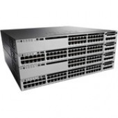 Cisco Catalyst WS-C3850-48F Layer 3 Switch - 48 Ports - Manageable - Stack Port - 10/100/1000Base-T - Modular - 3 Layer Supported - Redundant Power Supply - 1U High - Rack-mountable, Desktop WS-C3850-48F-E