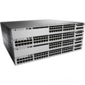 Cisco Catalyst Ethernet Switch - 24 Ports - Manageable - Stack Port - 1 x Expansion Slots - 10/100/1000Base-T - Modular - Twisted Pair - Gigabit Ethernet - 2 Layer Supported - Power Supply - Redundant Power Supply - 1U High - Rack-mountable - 90 Day WS-C3