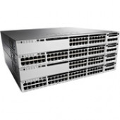 Cisco Catalyst Ethernet Switch - 48 Ports - Manageable - 10/100/1000Base-T - Twisted Pair - Gigabit Ethernet - 2 Layer Supported - Power Supply - Redundant Power Supply - 1U High - Rack-mountable - 90 Day WS-C3850-48P-E