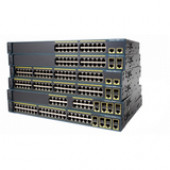 Cisco Catalyst 2960-24TC Managed Ethernet Switch - 24 Ports - 2 x Expansion Slots - 100/1000Base-T - Uplink Port - Shared SFP Slot - 2 x SFP Slots - 2 Layer Supported - Redundant Power SupplyLifetime Limited Warranty WS-C2960+24TC-L