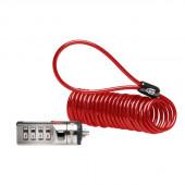 Kensington K64671AM Portable Combination Laptop Lock (Red) K64671AM