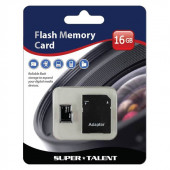 Super Talent 16GB Micro SDHC Memory Card w/ Adapter, Retail MSD16ST10R