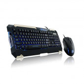 Thermaltake Tt eSPORTS KB-CMC-PLBLUS-01 USB Wired Commander Gaming Gear Keyboard & Mouse Combo KB-CMC-PLBLUS-01